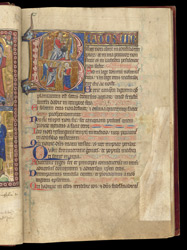Psalm 1 With David and the Annunciation, In The Egerton Psalter